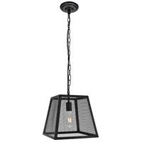 Living District LDPD3016 Talon 1 Light 12 inch Matte Black Pendant Ceiling Light