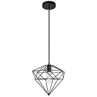 Living District LDPD3021 Poe 1 Light 12 inch Dark Bronze Pendant Ceiling Light