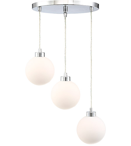 Light Visions PL0174CH Modern 3 Light 18 inch Chrome Pendant Ceiling Light photo thumbnail