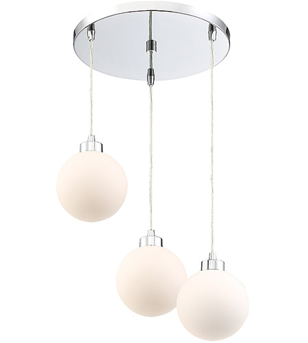 Light Visions PL0174CH Modern 3 Light 18 inch Chrome Pendant Ceiling Light alternative photo thumbnail