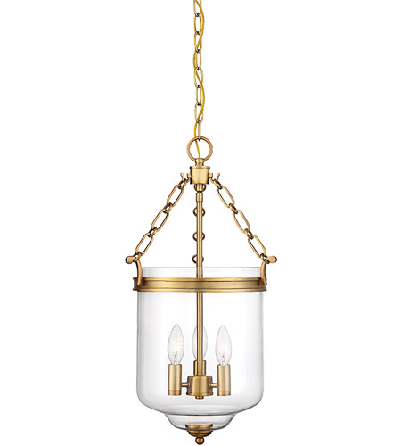 Light Visions PL0177NB Transitional 3 Light 13 inch Natural Brass Pendant Ceiling Light photo thumbnail