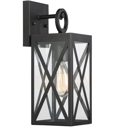 Light Visions PL0221BK Farmhouse 1 Light 14 inch Black Outdoor Wall Sconce photo thumbnail