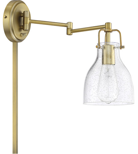 Light Visions PL0229NB Transitional 1 Light 6 inch Natural Brass Wall Sconce Wall Light, Adjustable alternative photo thumbnail