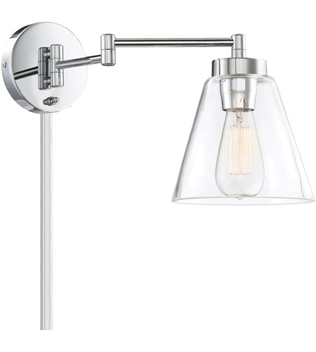 Light Visions PL0230CH Mid-Century 1 Light 7 inch Chrome Wall Sconce Wall Light, Adjustable alternative photo thumbnail