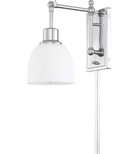 Light Visions PL0234CH Industrial 1 Light 6 inch Chrome Wall Sconce Wall Light alternative photo thumbnail