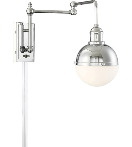 Light Visions PL0238CH Mid-Century 1 Light 7 inch Chrome Wall Sconce Wall Light photo thumbnail