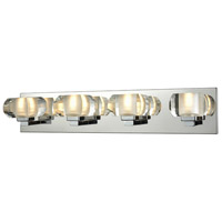 Antonn 4 Light 24 inch Polished Chrome Bath Bar Wall Light, Clear Crystal