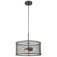 Industrial 3 Light 17 inch Black Chandelier Ceiling Light