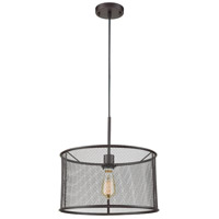 Industrial 1 Light 16 inch Black Chandelier Ceiling Light