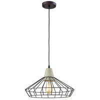 Industrial 1 Light 17 inch Black Pendant Ceiling Light