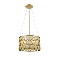 Tribeca 5 Light 20 inch Golden Pendant Ceiling Light