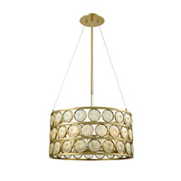 Tribeca 6 Light 24 inch Golden Pendant Ceiling Light