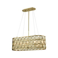 Contemporary 8 Light 35 inch Golden Island Light Ceiling Light
