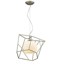 Light Visions 180009-1 Modern 1 Light 11 inch Brass Pendant Ceiling Light, Round Shade Glass