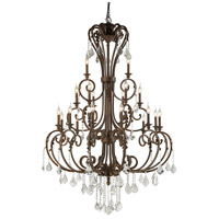 European 21 Light 46 inch Dark Rust Chandelier Ceiling Light