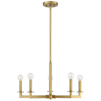Light Visions PL0245NB Transitional 5 Light 23 inch Natural Brass Chandelier Ceiling Light