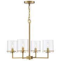 Light Visions PL0251NB Transitional 4 Light 26 inch Natural Brass Chandelier Ceiling Light