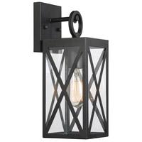 Light Visions PL0221BK Farmhouse 1 Light 14 inch Black Outdoor Sconce