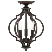 Light Visions PL0180ORB Transitional 3 Light 11 inch Oil Rubbed Bronze Semi Flush Ceiling Light