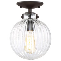 Light Visions PL0181ORB Modern Contemporary 1 Light 8 inch Oil Rubbed Bronze Semi Flush Ceiling Light