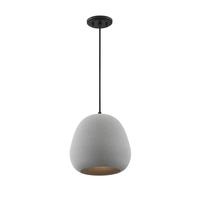 Light Visions PL0293CMBK Transitional 1 Light 12 inch Concrete/Matte Black Pendant Ceiling Light