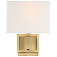 Transitional 1 Light 8 inch Natural Brass Wall Sconce Wall Light