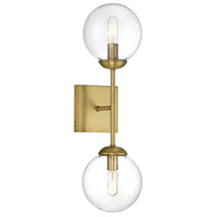 Light Visions PL0008NB Mid-Century 2 Light 6 inch Natural Brass Sconce Wall Light
