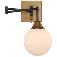Modern 1 Light 6 inch Oiled Rubbed bronze with Brass accents Wall Sconce Wall Light