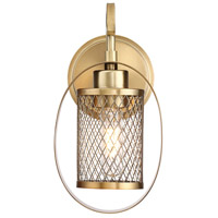 Industrial 1 Light 6 inch Natural Brass Wall Sconce Wall Light