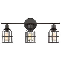 Light Visions PL0024ORB Industrial 3 Light 24 inch Oil Rubbed Bronze Vanity Light Wall Light