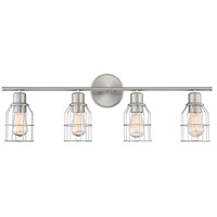 Light Visions PL0025BN Industrial 4 Light 32 inch Brushed Nickel Vanity Light Wall Light