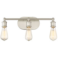 Light Visions PL0030BN Industrial 3 Light 19 inch Brushed Nickel Vanity Light Wall Light