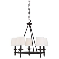 Transitional 5 Light 26 inch Oil Rubbed Bronze Chandelier Ceiling Light