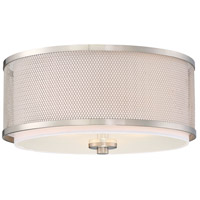 Light Visions PL0043BN Transitional 3 Light 15 inch Brushed Nickel Flush Mount Ceiling Light