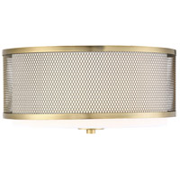 Light Visions PL0043NB Transitional 3 Light 15 inch Natural Brass Semi Flush Mount Ceiling Light