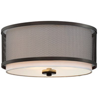 Light Visions PL0043ORB Transitional 3 Light 15 inch Oil Rubbed Bronze Flush Mount Ceiling Light