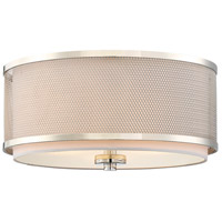Light Visions PL0043PN Transitional 3 Light 15 inch Polished Nickel Flush Mount Ceiling Light
