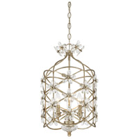 Light Visions PL0046-176 Art Nouveau 3 Light 13 inch Mixed Silver Mini Chandelier Ceiling Light