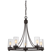 Contemporary 5 Light 26 inch Oil Rubbed Bronze Chandelier Ceiling Light