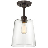 Light Visions PL0077PN Transitional 1 Light 10 inch Polished Nickel Semi Flush Mount Ceiling Light