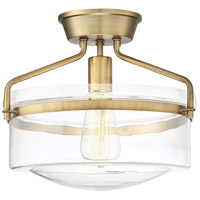 Light Visions PL0078NB Transitional 1 Light 13 inch Natural Brass Semi Flush Mount Ceiling Light alternative photo thumbnail