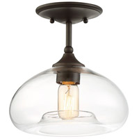 Light Visions PL0081ORB Transitional 1 Light 11 inch Oil Rubbed Bronze Semi Flush Mount Ceiling Light