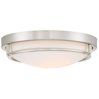 Light Visions PL0082BN Transitional 2 Light 13 inch Brushed Nickel Flush Mount Ceiling Light