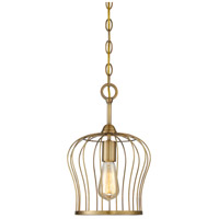 Light Visions PL0085-322 Transitional 1 Light 9 inch Natural Brass Mini Pendant Ceiling Light