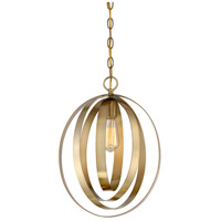 Light Visions PL0089-322 Modern 1 Light 12 inch Natural Brass Pendant Ceiling Light