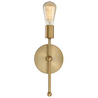 Modern 1 Light 6 inch Natural Brass Wall Sconce Wall Light