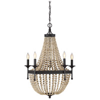 Coastal 5 Light 24 inch Oil Rubbed Bronze Chandelier Ceiling Light