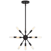 Light Visions PL0107ORB Mid-century 12 Light 15 inch Oil Rubbed Bronze Chandelier Ceiling Light