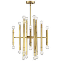Modern 24 Light 22 inch Natural Brass Chandelier Ceiling Light