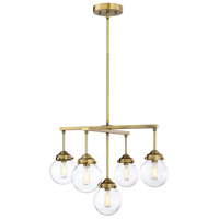 Light Visions Natural Brass Metal Chandeliers
